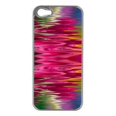 Abstract Pink Colorful Water Background Apple Iphone 5 Case (silver)
