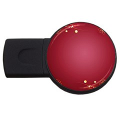 Red Background With A Pattern Usb Flash Drive Round (2 Gb)