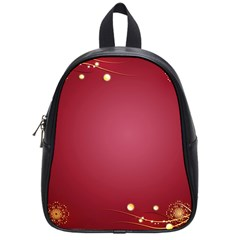 Red Background With A Pattern School Bag (small) by Jojostore