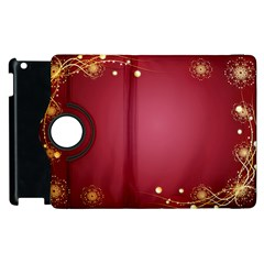 Red Background With A Pattern Apple Ipad 3/4 Flip 360 Case
