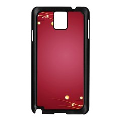 Red Background With A Pattern Samsung Galaxy Note 3 N9005 Case (black)