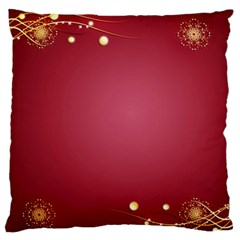 Red Background With A Pattern Large Flano Cushion Case (one Side) by Jojostore