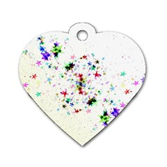 Star Structure Many Repetition Dog Tag Heart (two Sides) by Jojostore