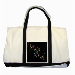Star Structure Many Repetition Two Tone Tote Bag