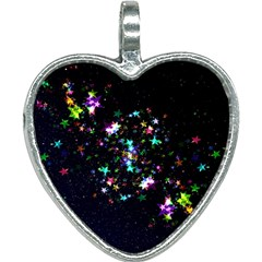 Star Structure Many Repetition Heart Necklace by Jojostore