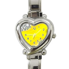 Fractal Abstract Background Heart Italian Charm Watch by Jojostore