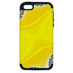 Fractal Abstract Background Apple Iphone 5 Hardshell Case (pc+silicone)