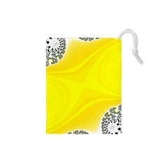 Fractal Abstract Background Drawstring Pouch (small) by Jojostore