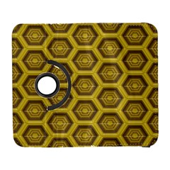 Golden 3d Hexagon Background Samsung Galaxy S  Iii Flip 360 Case