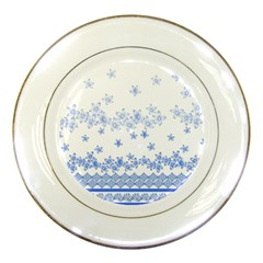 Blue And White Floral Background Porcelain Plates