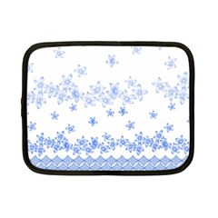 Blue And White Floral Background Netbook Case (small) by Jojostore