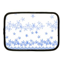 Blue And White Floral Background Netbook Case (medium) by Jojostore