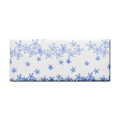 Blue And White Floral Background Hand Towel