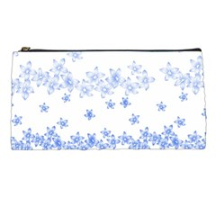 Blue And White Floral Background Pencil Cases