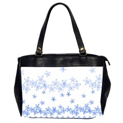 Blue And White Floral Background Oversize Office Handbag (2 Sides) by Jojostore