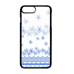 Blue And White Floral Background Apple Iphone 8 Plus Seamless Case (black) by Jojostore