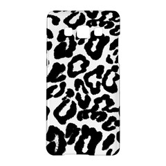 Black And White Leopard Skin Samsung Galaxy A5 Hardshell Case