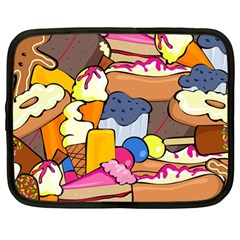 Sweet Stuff Digitally Created Sweet Food Wallpaper Netbook Case (large) by Jojostore