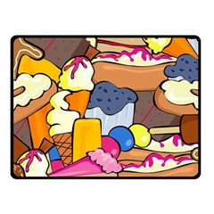 Sweet Stuff Digitally Created Sweet Food Wallpaper Fleece Blanket (small) by Jojostore