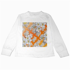 Flowers Background Backdrop Floral Kids Long Sleeve T Shirts