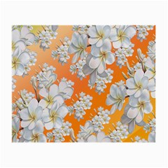 Flowers Background Backdrop Floral Small Glasses Cloth (2 Side)