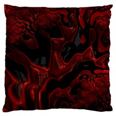 Fractal Red Black Glossy Pattern Decorative Standard Flano Cushion Case (one Side) by Jojostore