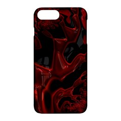 Fractal Red Black Glossy Pattern Decorative Apple Iphone 7 Plus Hardshell Case