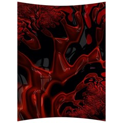 Fractal Red Black Glossy Pattern Decorative Back Support Cushion by Jojostore