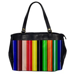 Colorful Striped Background Wallpaper Pattern Oversize Office Handbag