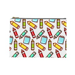 Seamless Pixel Art Pattern Cosmetic Bag (large)
