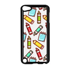 Seamless Pixel Art Pattern Apple Ipod Touch 5 Case (black) by Jojostore