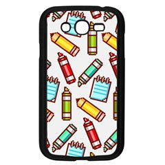 Seamless Pixel Art Pattern Samsung Galaxy Grand Duos I9082 Case (black)