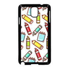 Seamless Pixel Art Pattern Samsung Galaxy Note 3 Neo Hardshell Case (black)