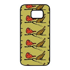 Bird Birds Animal Nature Wild Wildlife Samsung Galaxy S7 Edge Black Seamless Case by Jojostore