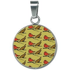 Bird Birds Animal Nature Wild Wildlife 20mm Round Necklace by Jojostore