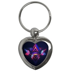 Abstract Desktop Backgrounds Key Chains (heart)