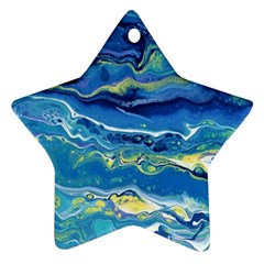 Sunlit Waters Star Ornament (two Sides)