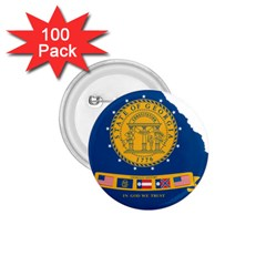 Flag Map Of Georgia, 2001 2003 1 75  Buttons (100 Pack)