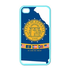 Flag Map Of Georgia, 2001 2003 Apple Iphone 4 Case (color)