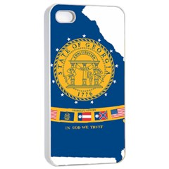 Flag Map Of Georgia, 2001 2003 Apple Iphone 4/4s Seamless Case (white)