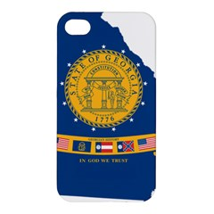Flag Map Of Georgia, 2001 2003 Apple Iphone 4/4s Premium Hardshell Case
