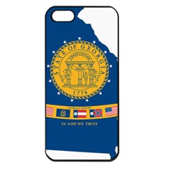 Flag Map Of Georgia, 2001 2003 Apple Iphone 5 Seamless Case (black)