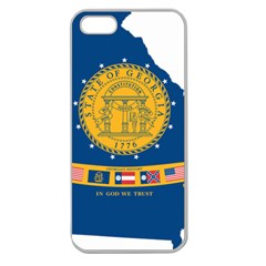 Flag Map Of Georgia, 2001 2003 Apple Seamless Iphone 5 Case (clear)