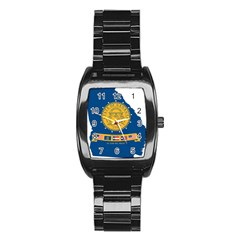 Flag Map Of Georgia, 2001 2003 Stainless Steel Barrel Watch