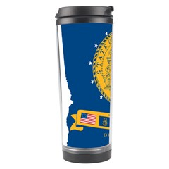Flag Map Of Georgia, 2001 2003 Travel Tumbler by abbeyz71