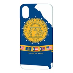 Flag Map Of Georgia, 2001 2003 Apple Iphone X Hardshell Case