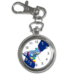 Flag Map Of Guam Key Chain Watches by abbeyz71