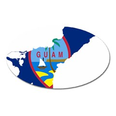 Flag Map Of Guam Oval Magnet by abbeyz71
