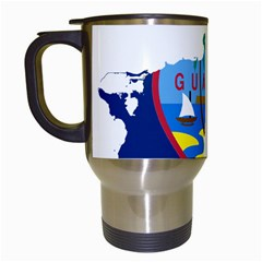 Flag Map Of Guam Travel Mugs (white) by abbeyz71