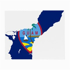Flag Map Of Guam Small Glasses Cloth by abbeyz71